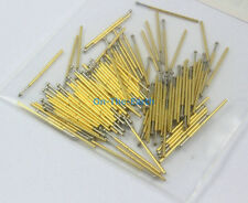 100 Pieces P50-E2 Dia 0.68mm Length 16mm Spring Test Probe Pogo Pin