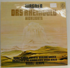 "WAGNER LA RHEINGOLD RUDOLF SCHOCK LISA OTTO BERLIN Rudolf KEMPE 12"" LP (d989)"