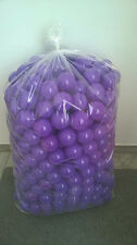 500 BRAND NEW SOFT PLAY BALLS -BALL PIT, POOL , COMMERCIAL GRADE CE - PURPLE