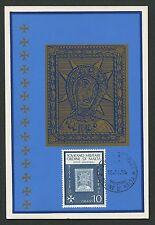 MALTESERORDEN SMOM S.M.O.M. MK 1966 IKONE ICONA MAXIMUM CARD MC CM d2700