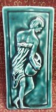 """Woman Carry Jug, By Biondo, TerraCotta High Relief!, Ceramic Tile 4 1/4"""" X 10"""""""
