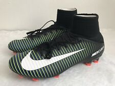 Nike Men Mercurial Veloce III DF FG Size 11.5 Black Electric Green