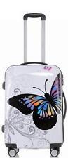 Design Reise Koffer Hartschalenkoffer Trolley 66cm 70L Motiv BB Butterfly