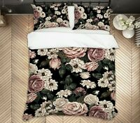 3D Vintage Rose ZHUA2104 Bed Pillowcases Quilt Duvet Cover Set Queen King Zoe