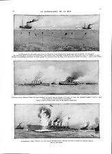 Kaiserliche Marine Mines Mer Nord North Sea Torpedo Royal Navy WWI ILLUSTRATION
