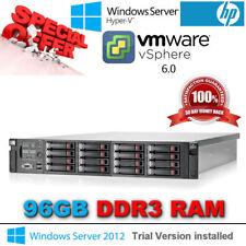 """HP ProLiant DL380 G7 2x SIX CORE E5645 2.40Ghz 96 Go Ram 16x2.5"""" HP CADDY & Rails"""