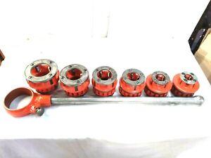 Ridgid Model 12-R Rachet  Pipe Threader Die Set with 6 Dies ,,rigid 300 700
