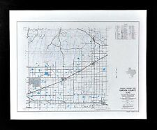 Texas Map - Carson County - Panhandle Skellytown White Deer Groom Conway Pantex