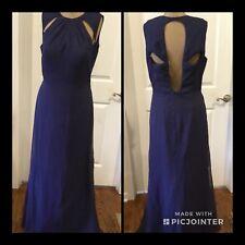 NEW! Impression Bridal Formal Dark Blue Size 12 Fully Lined Built In Bra NWT!