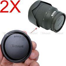 2x Tappo Coperchio Retro Copri Obiettivo per Sony E FE SEL Mount Lente lens