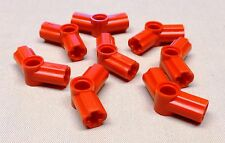 x8 NEW Lego Red Technic Axle and Pin Connector Angled #4 - 135 degrees NXT