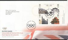 GB 2008 FDC Olympic Flag Handover MINISHEET SGMS2861, Edinburgh Postmark stamps
