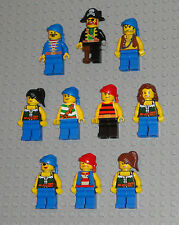 LEGO Minifigures Lot 10 Pirates Six Guys Four Girls Lego Minifigs People Toys