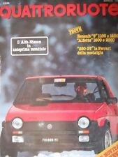 Quattroruote 317 1982 Anteprima Alfa Nissan. 250GT Ferrari della nostalgia [Q75]