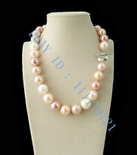 "12mm AAA Multicolor South Sea shell Pearl Necklace 18"" LL003"