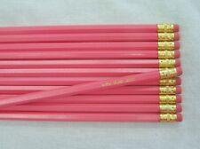 "12 Hexagon ""Regular Pink"" Personalized Pencils"