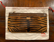 Coach Madison Flat Clutch Haircalf Leather #49726 Tan Multi NWT! Dust Bag Incl.