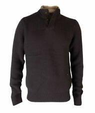 Cotton Patternless Brown Jumpers & Cardigans for Men