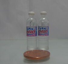 1:12 Scale 2x Bottles Of Evian Water ( Round)