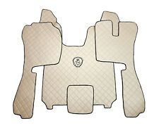 Set RIGHT HAND DRIVE Floor Mats For SCANIA R STREAMLINE 2014+ BEIGE Eco Leather.