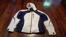 Obermeyer Women's Ski Board Jacket Coat Winter Size 10 White Blue Black