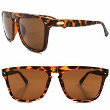 Flat Top Classic Vintage Retro Fashion Indie Tortoise Mens Hipster Sunglasses