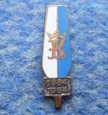 100 YEARS ROWING city KRAKOW POLAND / 1884-1984 / ENAMEL PIN BADGE