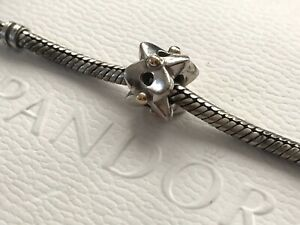Authentic Pandora Silver Gold EYELET LACE Charm 790326 RETIRED