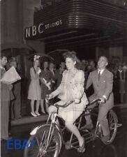 Dinah Shore rides bike Eddie Cantor Radio Show Photo From Original Negative