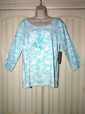 LG Allyson Whitmore Stretch Butterfly Pullover with 3/4 Slv& Flare at Bottom NWT