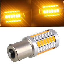 1156 BAU15S PY21W LED Daytime Running Light Amber Orange Yellow Bulb 33SMD