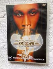 THE WORLD ACCORDING TO RZA - LIVE FROM GERMANY (DVD) VERY GOOD, FREE SHIPPING