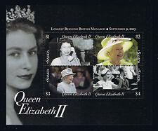 Samoa 2015 Queen Elizabeth II Stamp Issue Souvenir Sheet