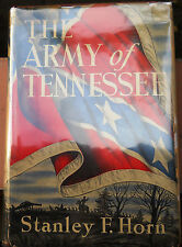 THE ARMY OF TENNESSEE by Stanley F. Horn / 1941 / Later Printing /Hardcover w/DJ
