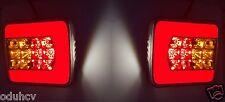 2x LED hinten Neon Rücklicht Lampen e-prüfzeichen für LKW Anhänger-fahrgestell
