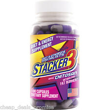 (Buy 5,Get 1 FREE) Stacker3 (3 not 2) 100 Capsules Bottle WEIGHT LOSS + ENERGY 1