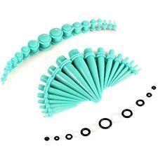 Aqua Taper Plug Kit 36 Pieces 14G-00G Stretching Gauges Ear Piercing Jewelry