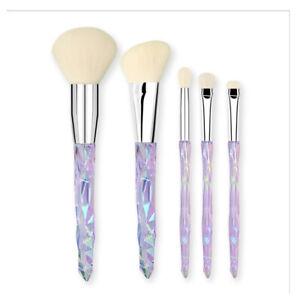 5Pcs Crystal Makeup Brushes Set Blusher Powder Foundation Eye shadow Tools