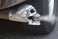 "Unpolished Skull Exhaust Tip - Original - 3"""