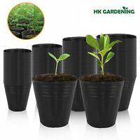 100 pc 13cmx12cm Plant Flower Pots Outdoor Living Garden Nursery Raising Bag