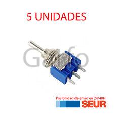 5X Mini-Interruptor de Palanca 3 PIN Azul SPDT ON-OFF-ON 6A / 125 V 3A / 250 V