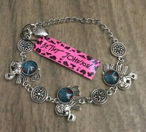 Betsey Johnson Lucky Elephant Silver Bracelet Brand New makes a Perfect Gift!