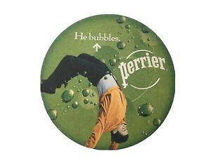 Perrier He Bubbles Beer Mat Coaster Sous Bock Bierdeckel
