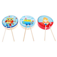 Wood Drum with Stick Percussion Musical Educational Toy Instrument for Kids