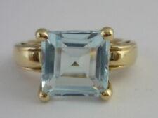 Stunning Large Sky Blue Topaz 9k White Gold Ring Size K