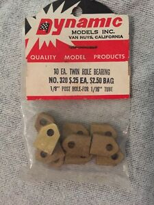 NOS Slot Car Dynamic Models Twin Hole Bearing #320