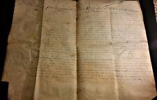 KING LOUIS XV & PHELYPEAUX AUTOGRAPHS on SUPER LARGE PARCHMENT (REGENCY) - 1721