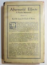 Antique 1922 AFTERWORLD EFFECTS A PSYCHIC MANUSCRIPT Occult Spiritualism Book