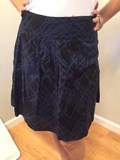 Mossimo Target Size 4 Blue Black Abstract Printed Cotton A Line Womens Skirt