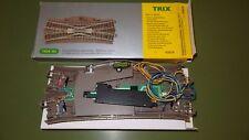 TRIX 62624 - Doppio incrocio scambio elettrico con massicciata L.188,3 mm R2